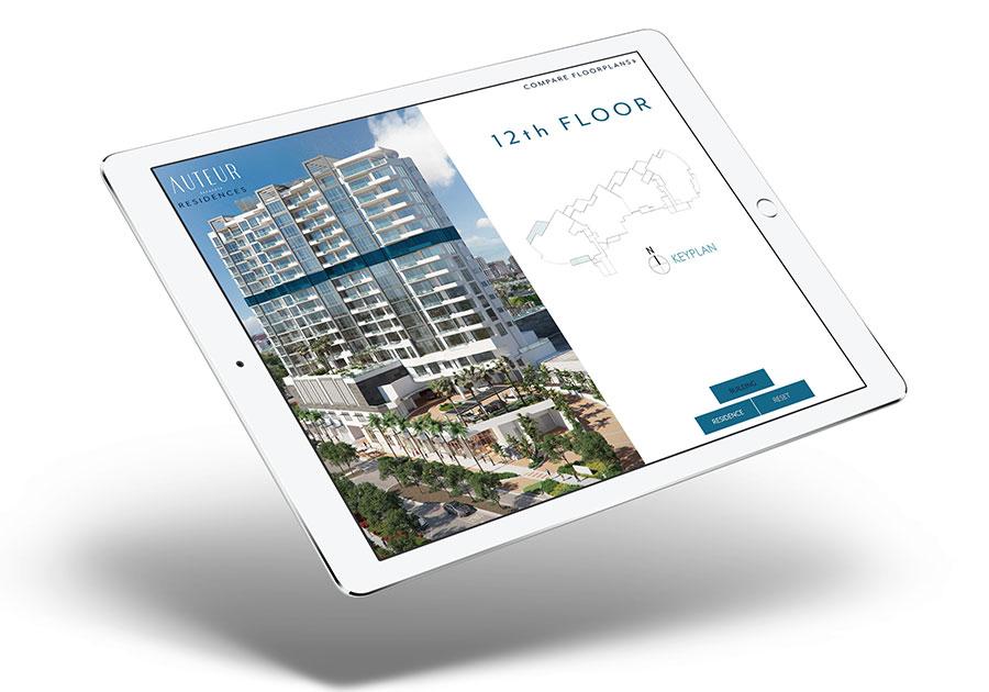 Interactive real estate sales centers - Auteur App
